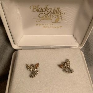 Black hills gold angel Earrings
